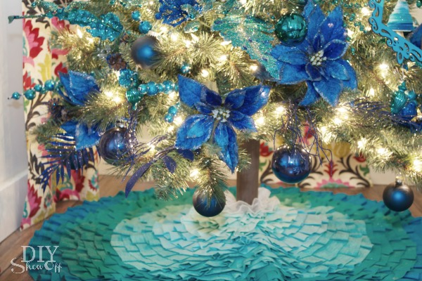 ombre tree skirt