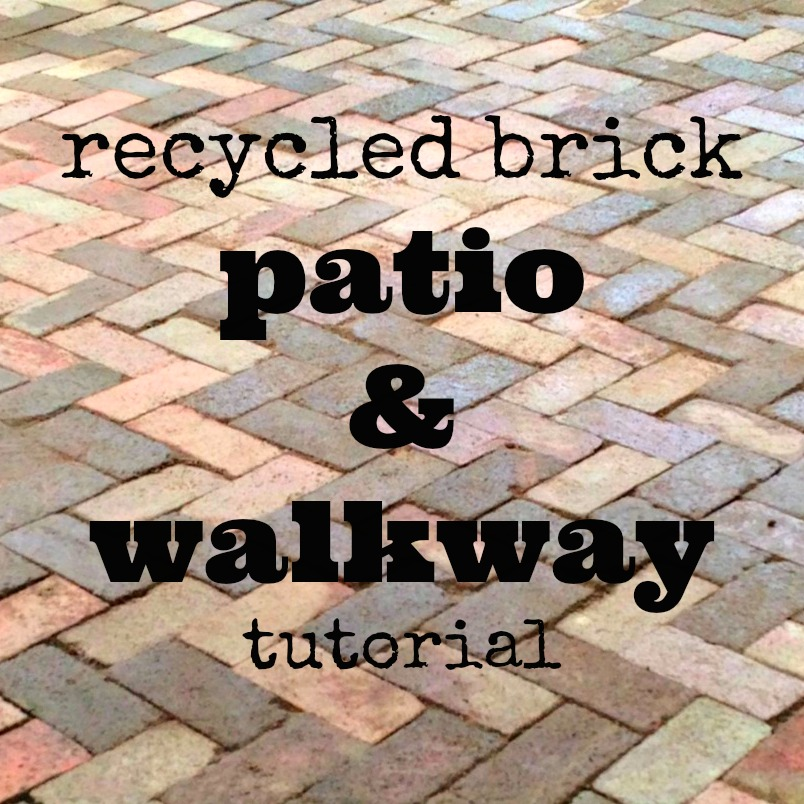 recycled brick patio and walkway tutorial