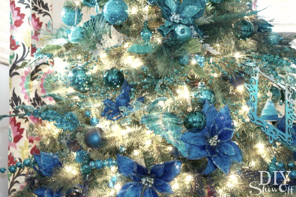 royal blue ombre Christmas tree