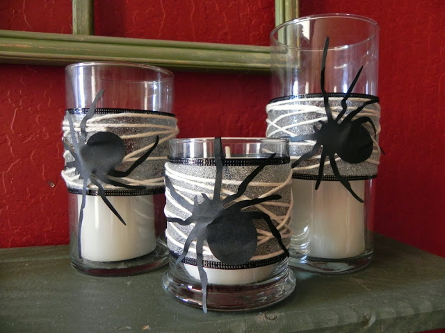 spider candles - messy roost
