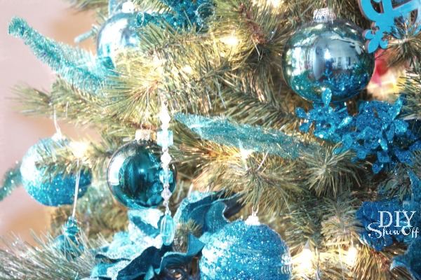 turquoise Christmas tree