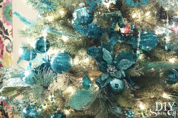 turquoise ombre christmas tree - Teal And Gold Christmas Decorations