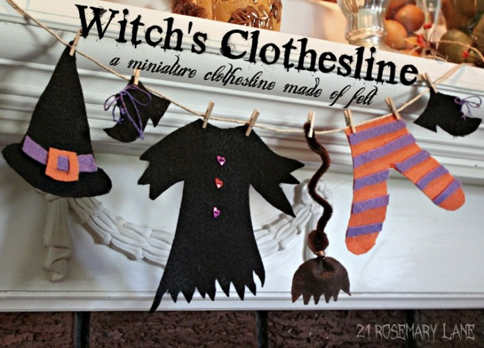 witch's laundry at 21 RoseMary Lane