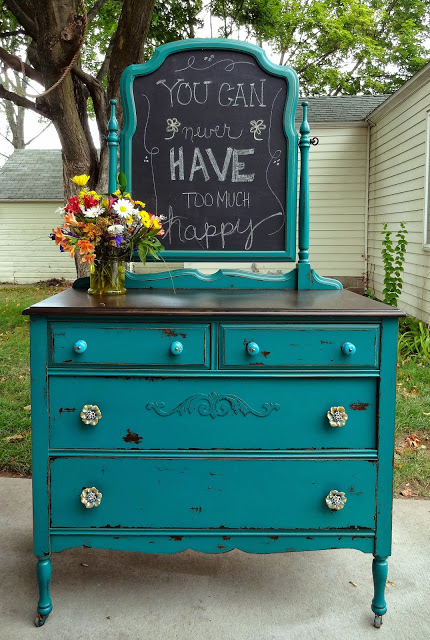 Chippy Teal Dresser at Create Inspire
