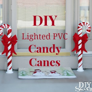 lighted pvc candy canes diy christmas home decor - Candy Cane Outdoor Christmas Decorations