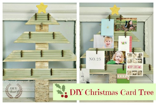 DIY Christmas Card Tree Display