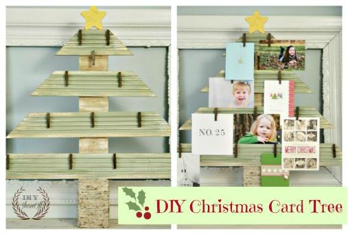 DIY Christmas Card Tree Display