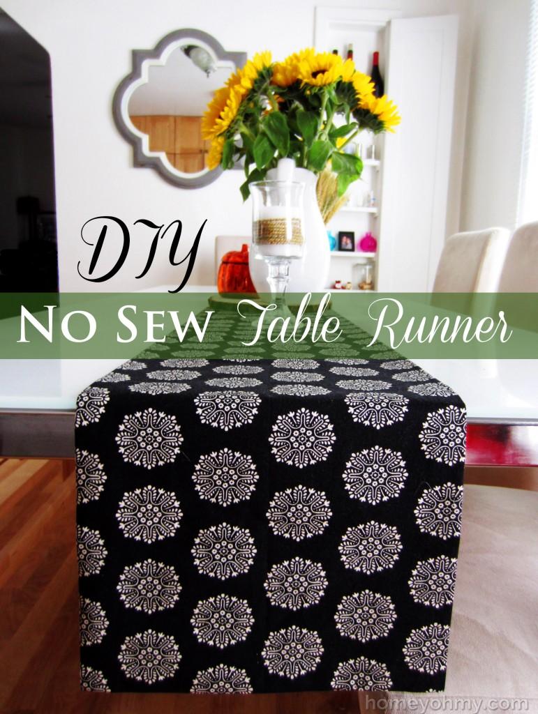 DIY-No-Sew-Table-Runner at Homey Oh My