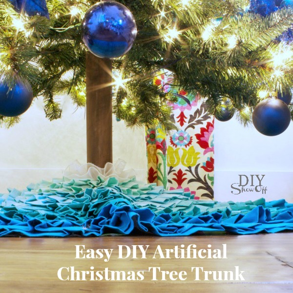 DIY artificial Christmas tree trunk tutorial at diyshowoff.com