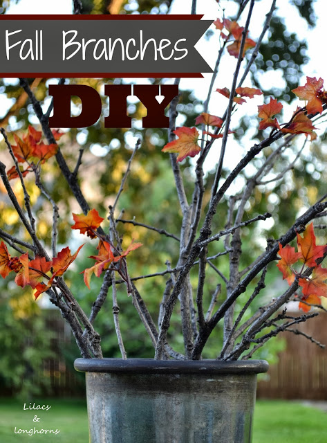 DIY fall branches at Lilacs and Longhorns