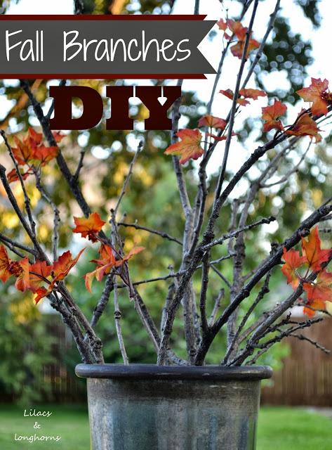 DIY fall branches at Lilacs and Longhorns