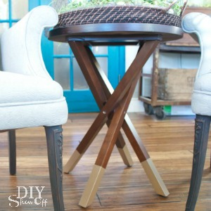 DIY gold dipped side table legs