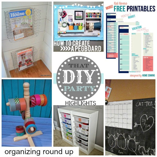 DIY organization round up
