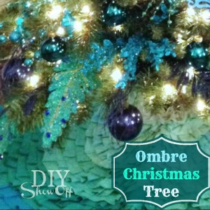 DIYShowOff ombre Christmas tree