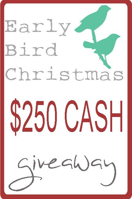 Earlybird Xmas giveaway