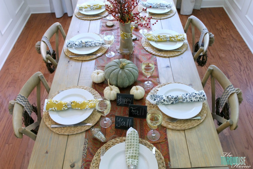 Fall-Dining-Room-Tablescape-at the Turquoise Home