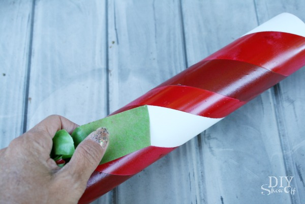FrogTape lighted PVC candy canes
