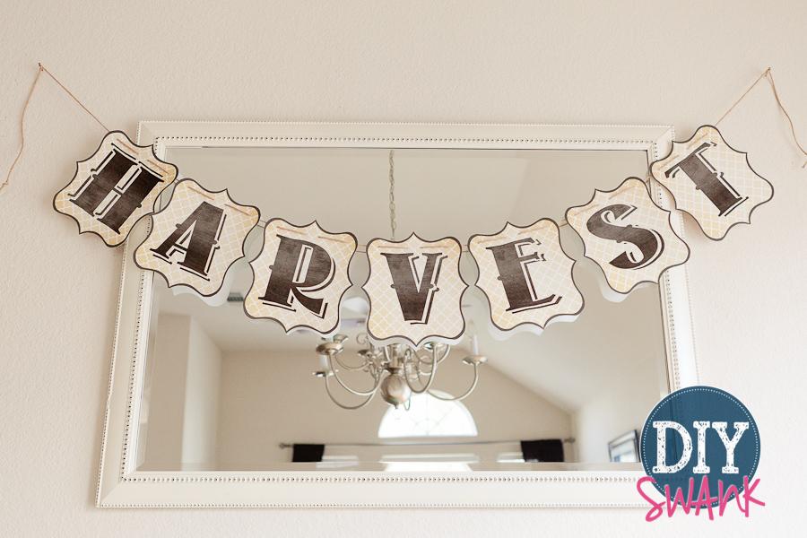 Harvest.Banner.Printable at DIY Swank