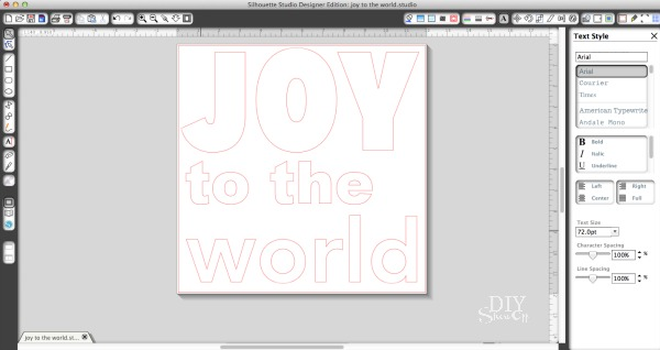 Joy to the World Christmas lettering
