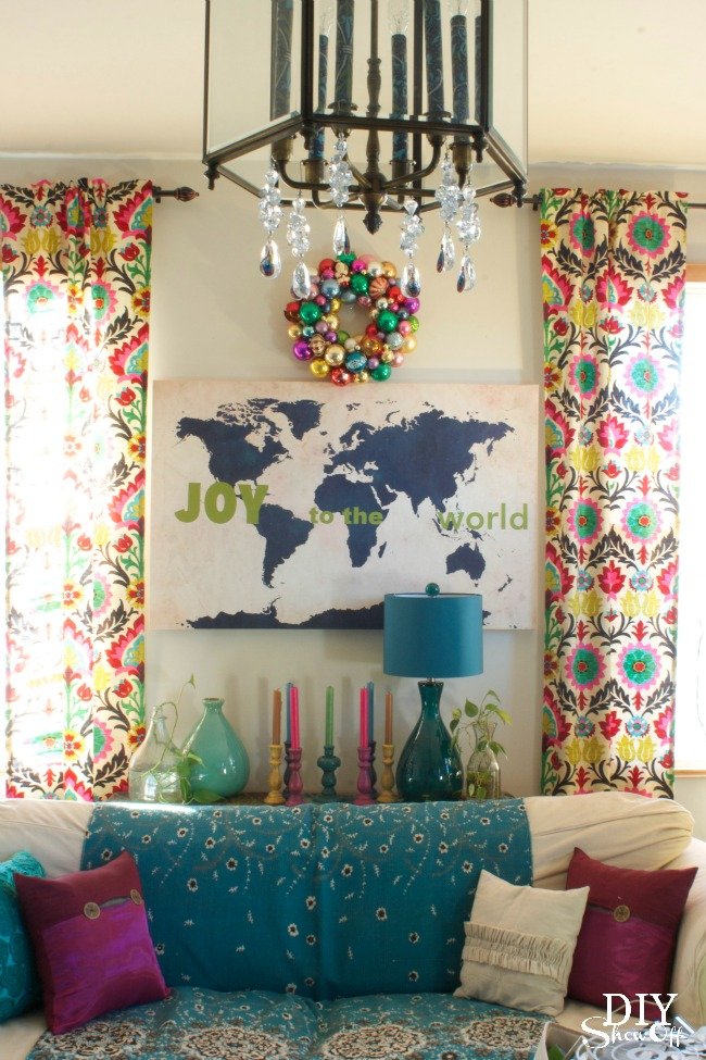 Joy to the World Vinyl Decals on Map