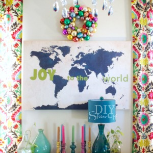 Joy to the World map vinyl decals