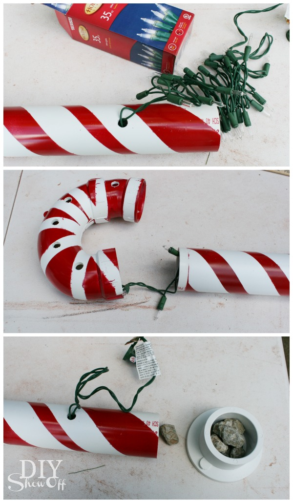 how to connect candy cane lights