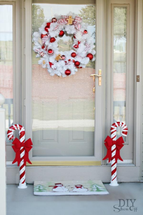 Lighted Pvc Candy Canes Diy Christmas Home Decor Show