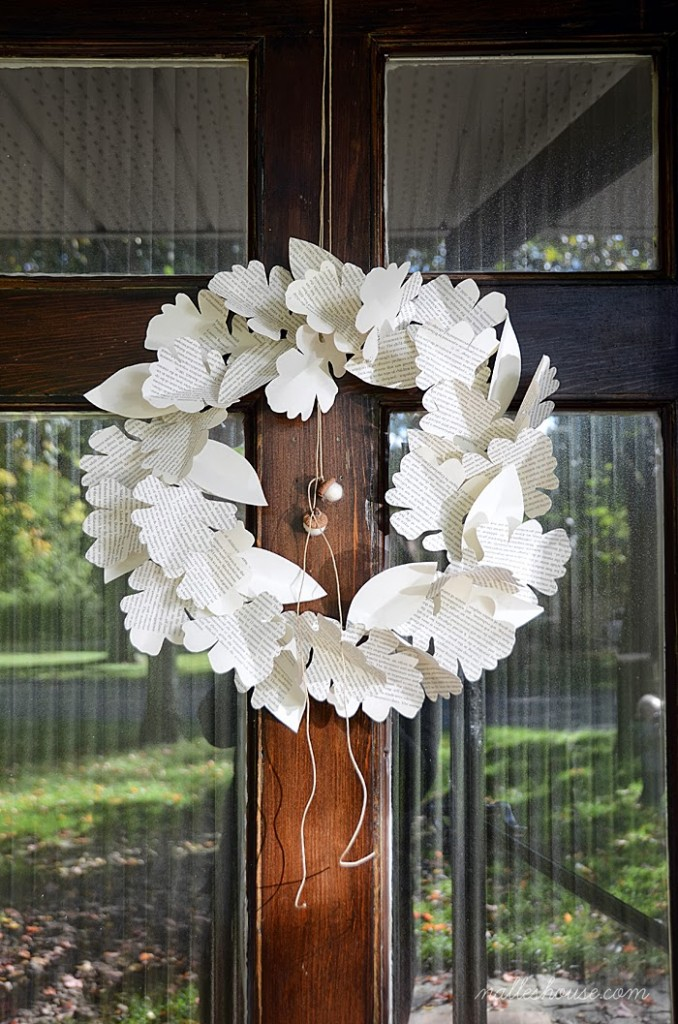 Paper Leaf Wreath at Nalles House