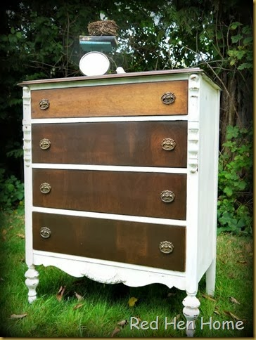 Red Hen Home White & Wood Dresser