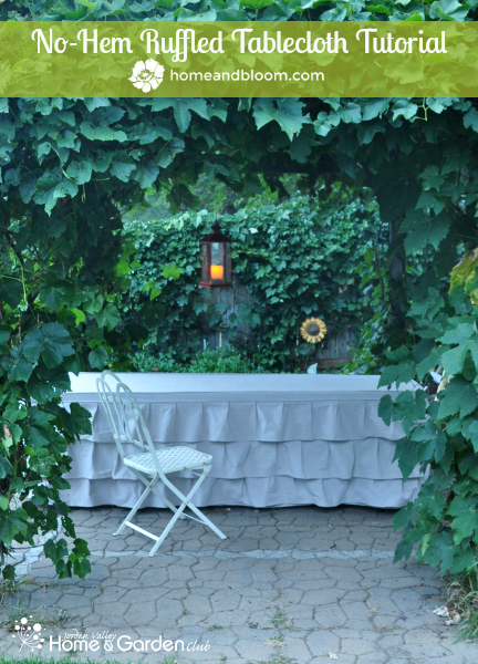 Ruffled-Tablecloth at Home and Bloom