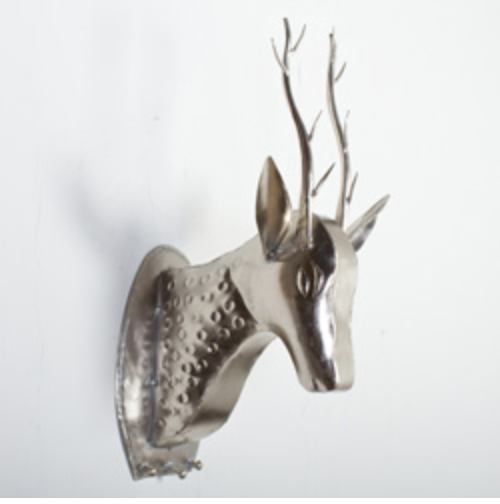 wall mount faux deer head