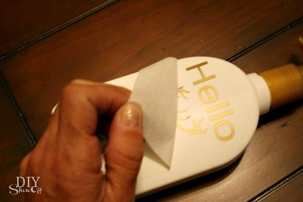 Vinyl lotion label decal DIY
