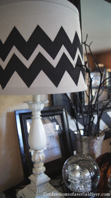 chevron lamp shade at Confessions of a Serial DIYer