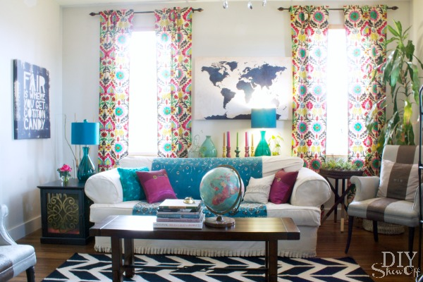 eclectic family room makeover