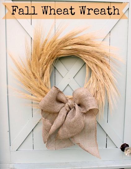 fall wheat wreath at DaisyMaeBelle