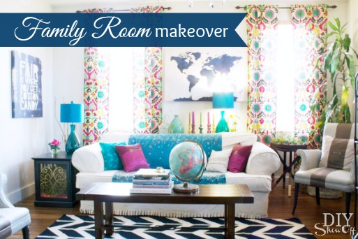 family room makeover before and after