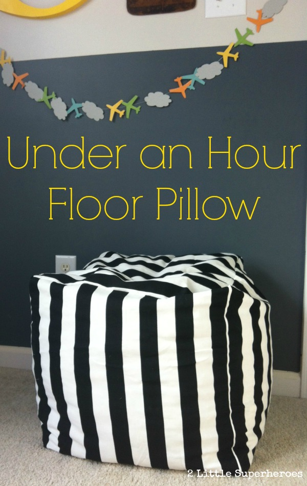 floor pillow tutorial at 2 Little Superheroes