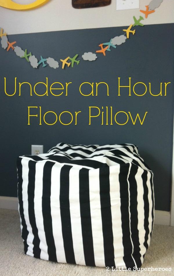 floor pillow tutorial at 2 Little Superheroes