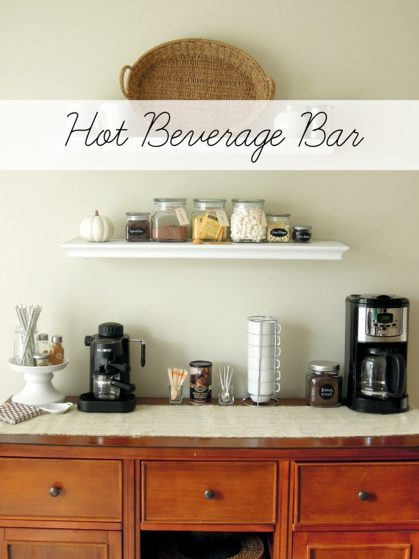 hot beverage bar at Creatively Southern