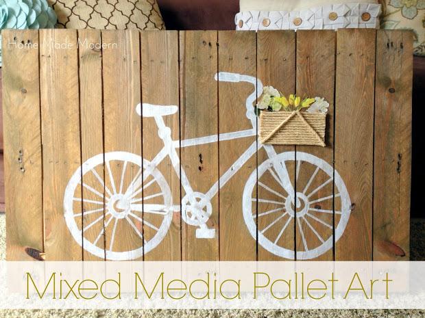 mixed media pallet art at HomeMadeModern