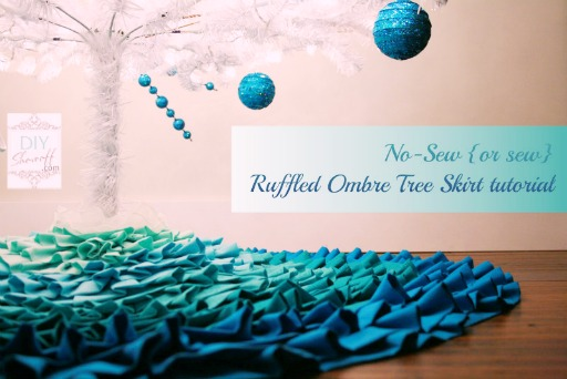 no sew ruffled tree skirt tutorial