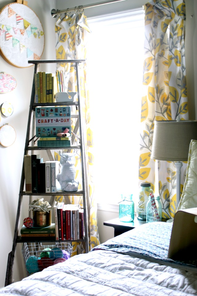 no sew tablecloth curtains at DaisyMaeBelle