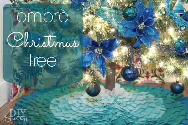 ombre christmas tree decor