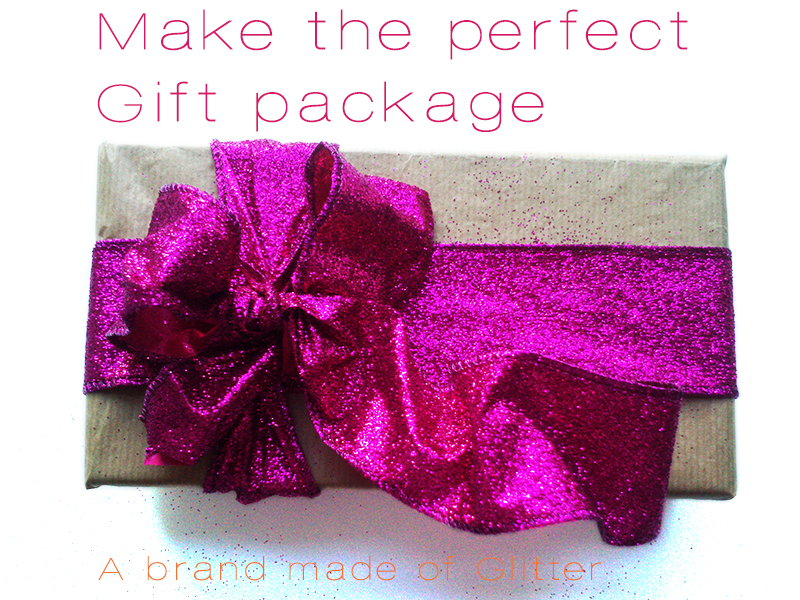 perfect gift wrapping at A Brand Made of Glitter