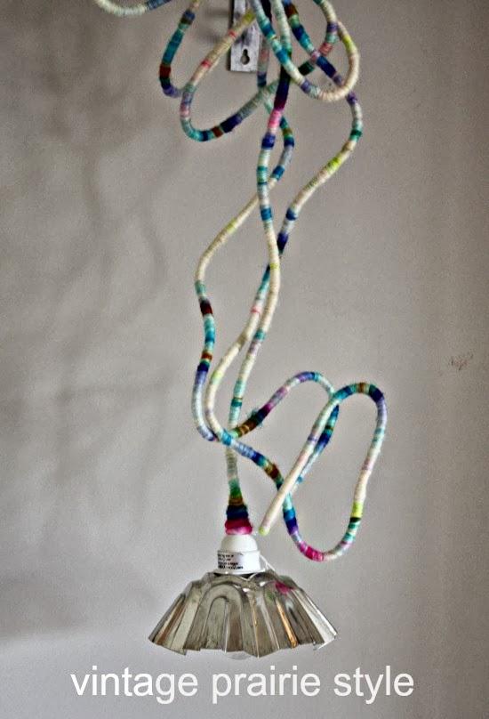 vintage jelly mold light at Vintage Prairie Style