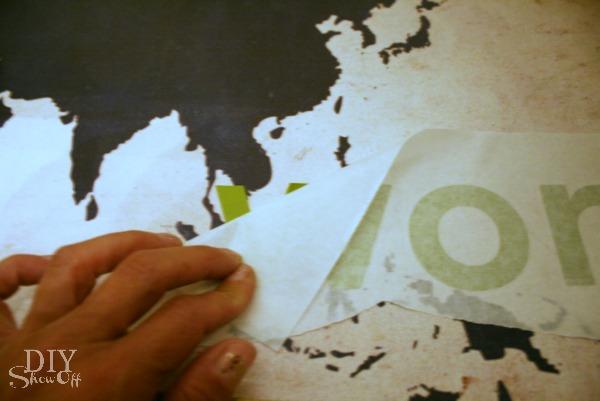 Joy to the World vinyl wall art