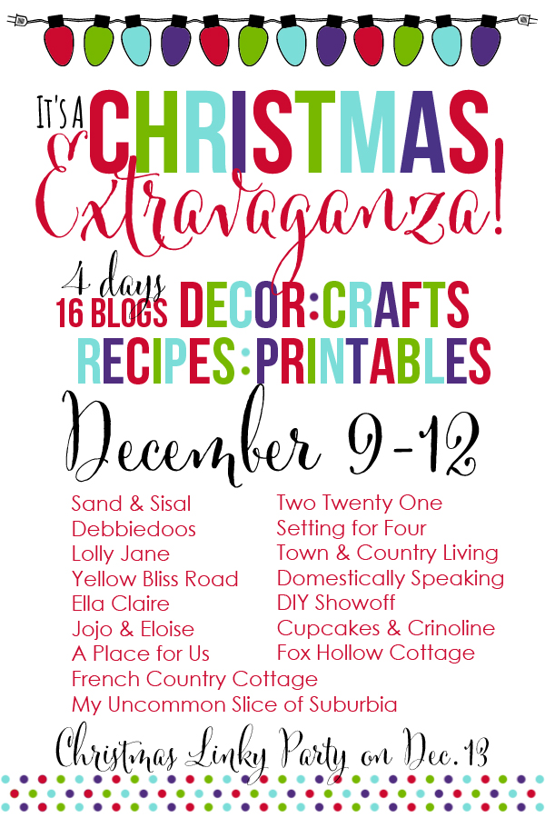 christmas exravaganza blog hop and linky party graphic - Christmas Decorating Contest