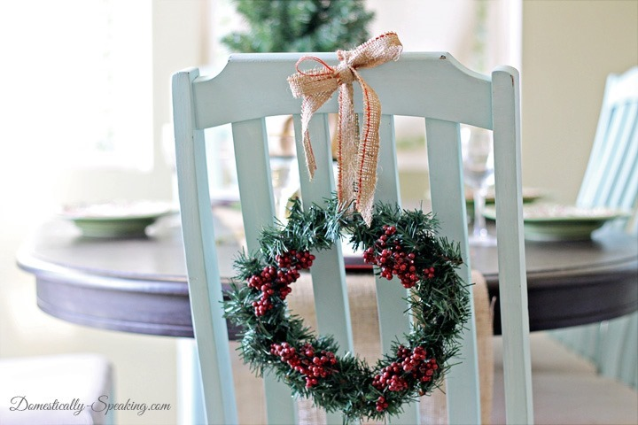 Christmas dollar tree wreath Domestically Speaking