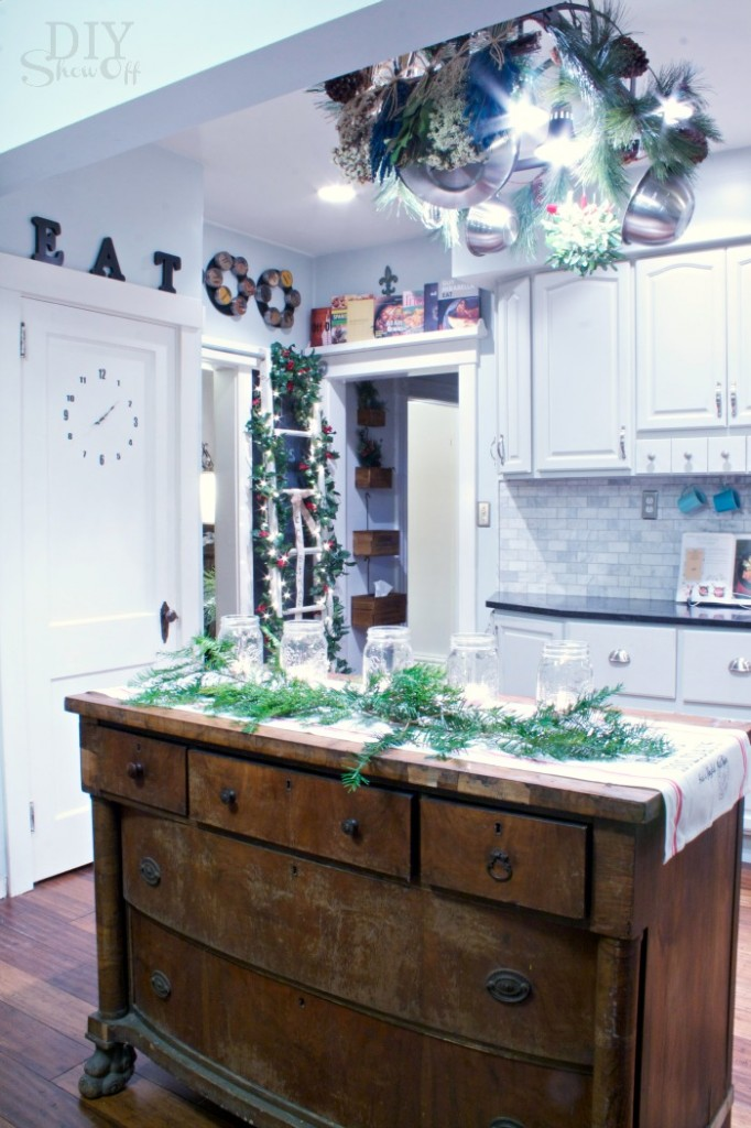 Christmas kitchen island