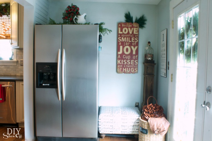 Christmas kitchen nook